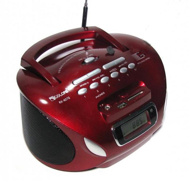 Магнитофон бумбокс колонка с пультом ДУ и радио Golon RX 627Q красный - зображення 1