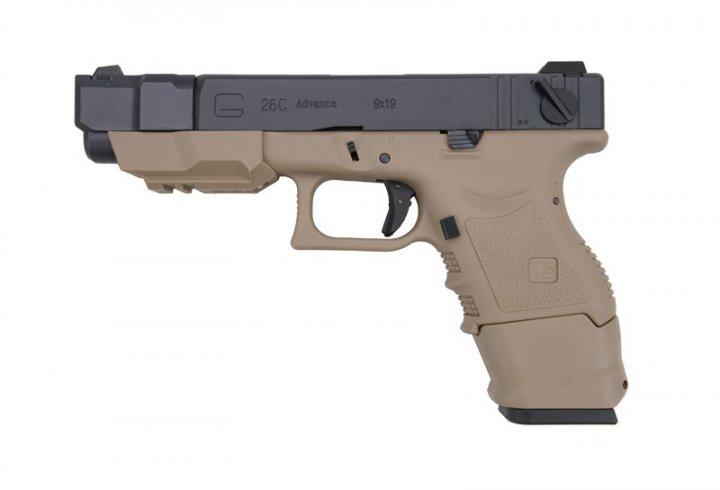 Пістолет WE Glock 26C Advance Gen.3 TAN GBB (Страйкбол 6мм) - зображення 1