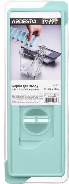 Форма для льда Ardesto Fresh Stick с крышкой 9.5х27х4 см Голубая (AR1102TP) - изображение 1