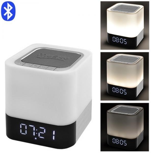 Bluetooth-колонка DY28, c функцією PowerBank, світильник (сенсорний), годинник, будильник - зображення 1