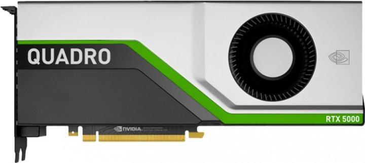 PNY PCI-Ex NVIDIA Quadro RTX5000 16GB GDDR6 (256bit) (4 x DisplayPort, 1 х VirtualLink) (XVCQRTX5000-PB) - изображение 1