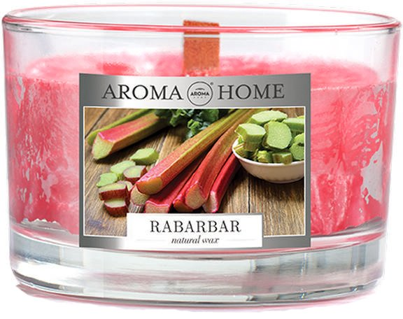 Ароматическая свеча из натурального воска Aroma Home 836674 Ревень 115 г (5902846836674) - изображение 1