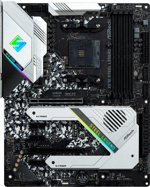 Материнская плата ASRock X570 Steel Legend (sAM4, AMD X570, PCI-Ex16) - изображение 1