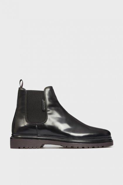 Мужские черные кожаные челси BEAUMONT Gant 45 21651005 - изображение 1