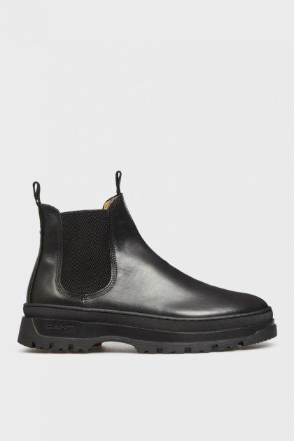 Мужские черные кожаные челси ST GRIP Gant 41 21651040 - изображение 1