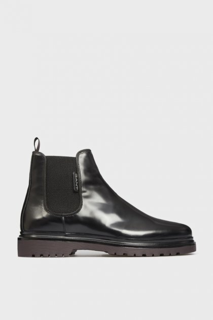 Мужские черные кожаные челси BEAUMONT Gant 44 21651005 - изображение 1