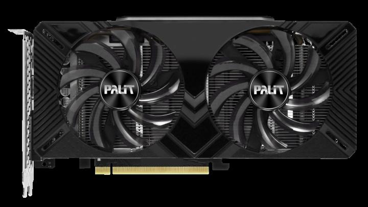 Palit PCI-Ex GeForce RTX 2060 Dual 6GB GDDR6 (192bit) (1365/14000) (DVI, HDMI, DisplayPort) (NE62060018J9-1160A) - зображення 1