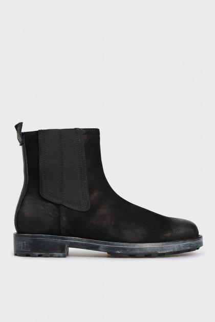 Мужские черные кожаные челси THROUPER Diesel 45 Y02476 PS066 - изображение 1