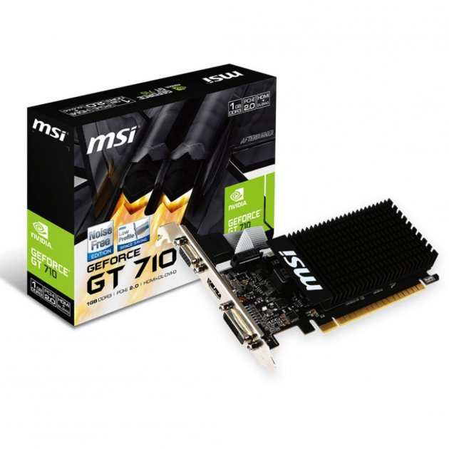 Відеокарта GeForce GT710 1024Mb MSI (GT 710 1GD3H LP) - изображение 1