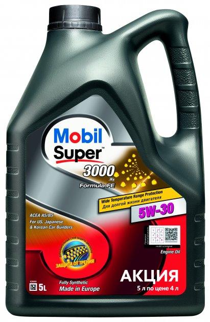 Моторна олива Mobil Super 3000 X1 Formula FE 5W-30 5 л (156155) - зображення 1
