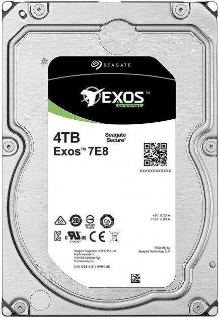 "Жорсткий диск Seagate Exos 7E8 512E 4TB 7200rpm 256MB ST4000NM005A 3.5"" SAS - зображення 1"