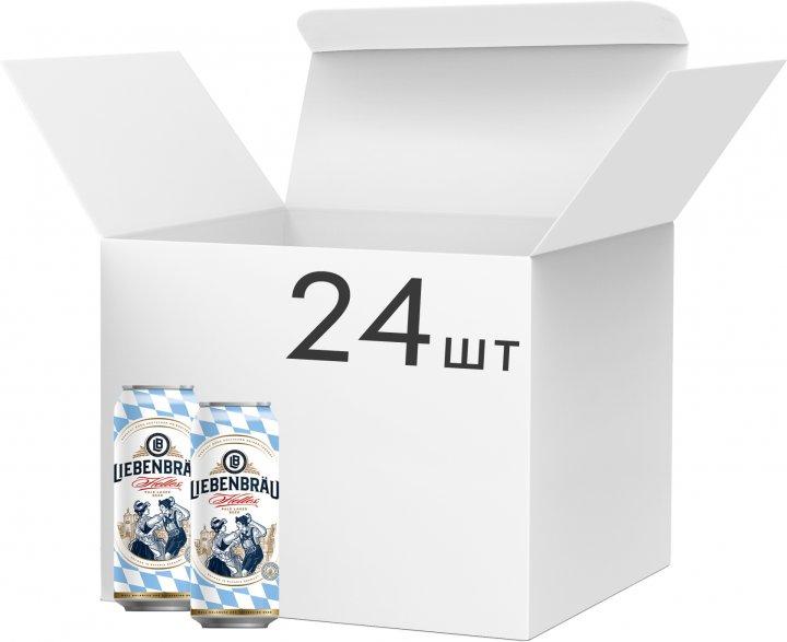 Упаковка пива Liebenbrau Helles светлое фильтрованное 5.1% 0.5 л х 24 шт (4071600070140) - изображение 1