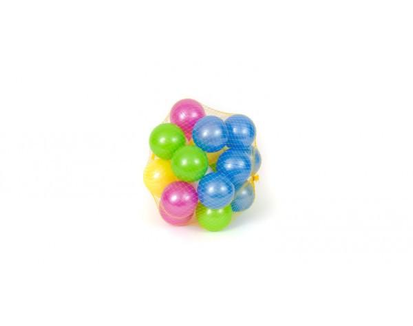 Кульки 00467 перламутрові 32 шт, 70 мм в сітці - зображення 1