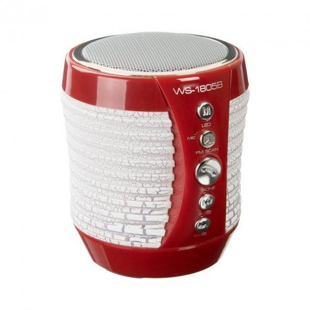 Bluetooth Колонка WS-1805B Red - зображення 1