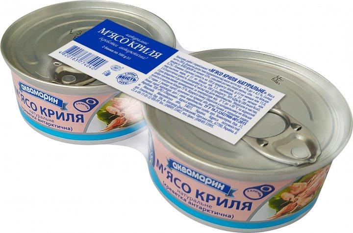 Упаковка мяса криля Аквамарин 100 г х 2 шт (4820183772909_4820183774040)