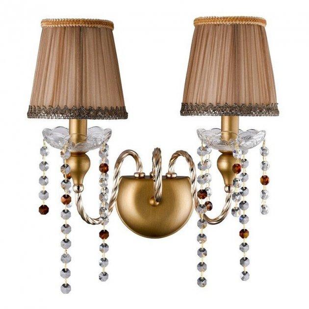 Бра Crystal Lux Alegria Ap2 Gold-Brown - зображення 1