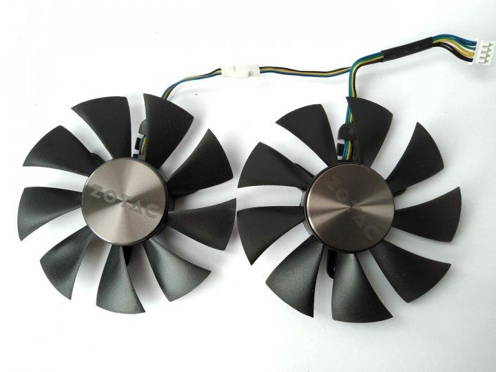 Вентилятор Ecotherm для видеокарты Zotac GFY09010E12SPA (GA91S2H) комплект 2 шт (№167) - изображение 1