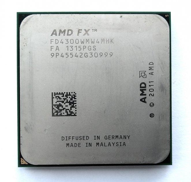 Процесор AMD FX-4300 3.8 GHz sAM3+ Tray 95w (FD4300WMW4MHK) Vishera Б/У - зображення 1
