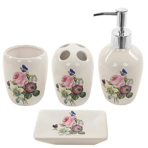 Набір аксесуарів для ванної Stenson Rose White (R22344) - зображення 1