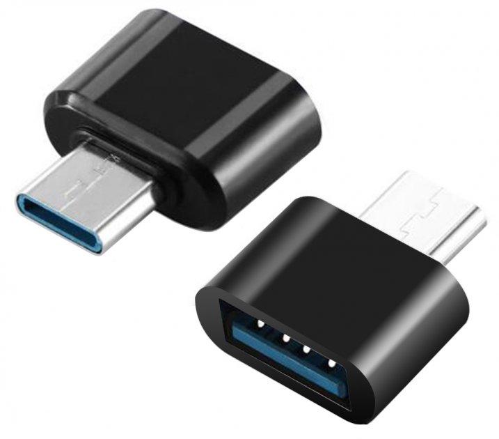 Адаптер до кабелю XOKO AC-040 USB — Type-C чорний - зображення 1