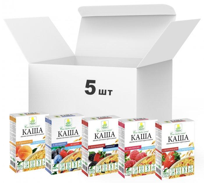 Упаковка каш Терра Mixed Fruit Porridge Yummy 190 г х 5 шт. (4820015736987) - зображення 1