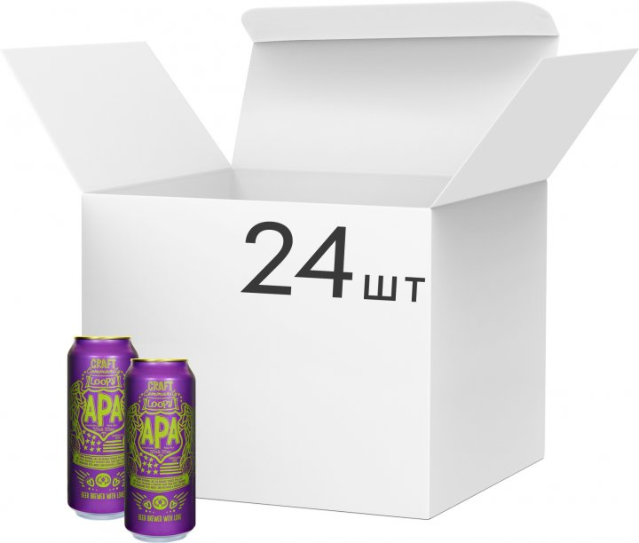 Упаковка пива Craft Community APA светлое фильтрованное 5.5% 0.5 л х 24 шт (4016762839082) - изображение 1