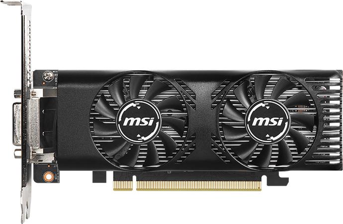 MSI PCI-Ex GeForce GTX 1650 Low Profile OC 4GB GDDR5 (128bit) (1695/8000) (DVI-D, HDMI, DisplayPort) (GTX 1650 4GT LP OC) - изображение 1