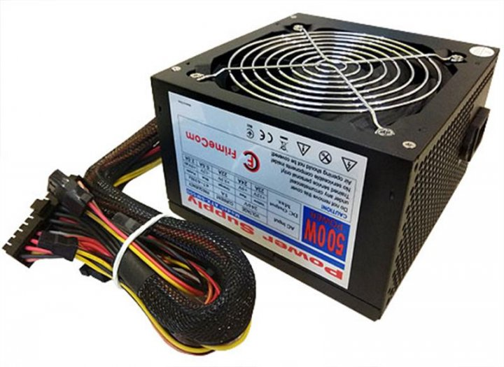 Блок живлення FrimeCom SM500R 500W, 12см, PCI-E, без кабелю живлення - зображення 1