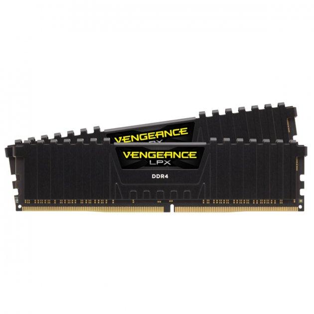 Модуль памяти DDR4 2х16GB/4133 Corsair Vengeance LPX Black (CMK32GX4M2K4133C19) - изображение 1