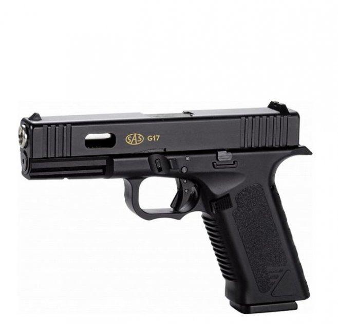 Пистолет пневматический SAS G17 (Glock 17) Blowback. Корпус - пластик - изображение 1