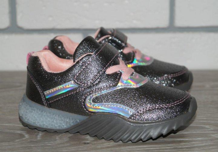 Светящиеся кроссовки Y.Top JR1152-35 26 графитовые - изображение 1