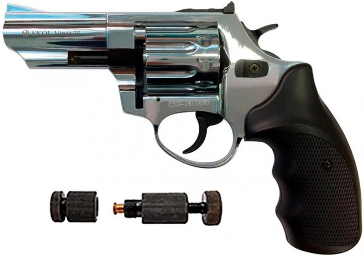"""Револьвер Флобера Ekol 3"""" Chrome + Обжимка патронов Флобера в подарок - изображение 1"""