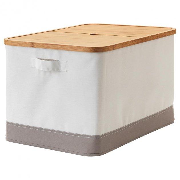 Коробка IKEA (ИКЕА) RABBLA 35x50x30см коричневая бежевая (403.481.26) - изображение 1