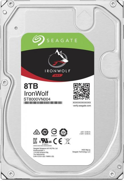 Накопитель HDD SATA 8.0TB Seagate IronWolf NAS 7200rpm 256MB (ST8000VN004) - изображение 1