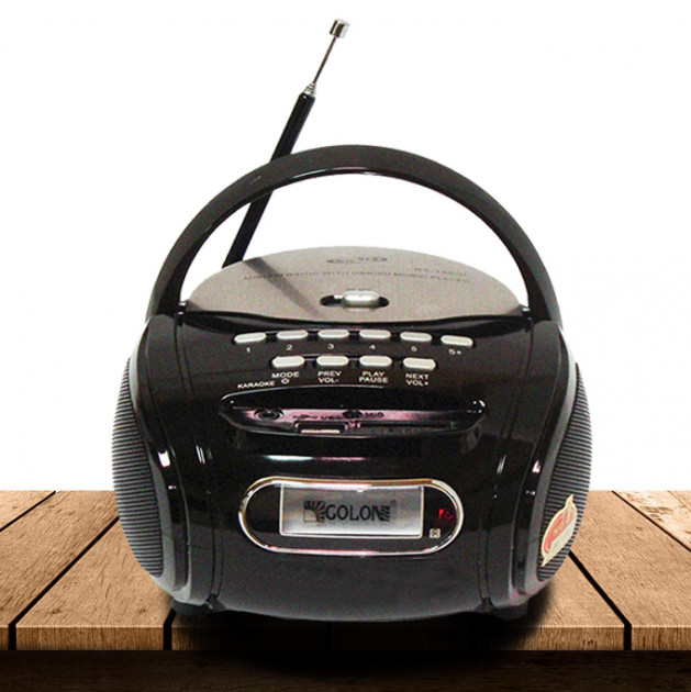 Радиоприемник Магнитофон Бумбокс Колонка Golon RX-186 Black - изображение 1