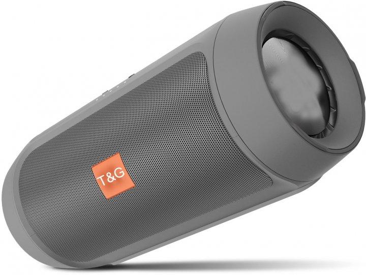 Портативна bluetooth стерео колонка T&G E2 Сіра (E2 Сірий) - зображення 1