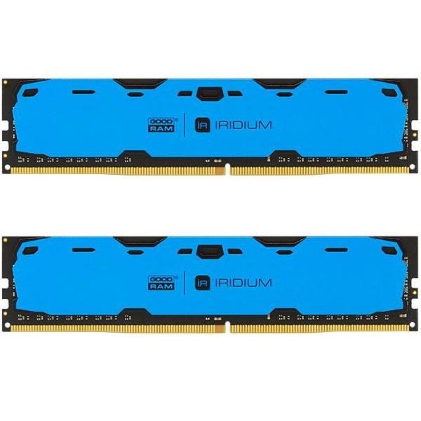 Пам'ять DDR4 RAM 8GB GOODRAM 2400MHz PC4-19200 (Kit of 2x4GB) Iridium Blue (IR-B2400D464L15S/8GDC) - изображение 1