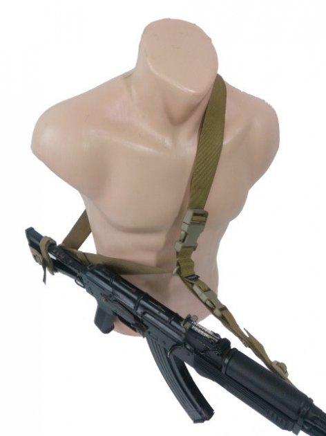 Ремінь AKINAK збройовий триточковий Койот - зображення 1