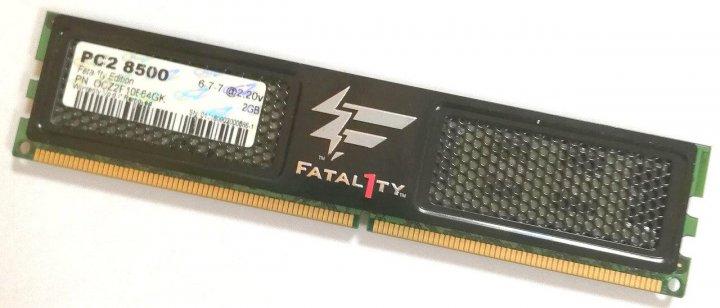Игровая оперативная память OCZ Fatal1ty DDR2 2Gb 1066MHz PC2 8500U CL6 (OCZ2F10664GK) Б/У - зображення 1