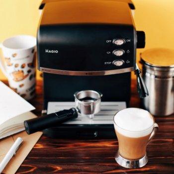 Кавоварка крапельна для кави, капучино та лате , потужність 870 Вт, із світловим індикатором роботи MAGIO (МG-963)