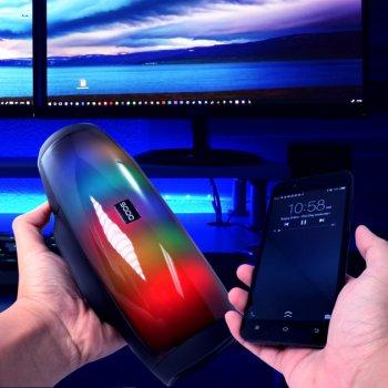 Портативна Bluetooth колонка SODO L1 Original Black 16 режимів LED підсвічування, NFS, AUX, microSD, FM радіо, гучний зв'язок