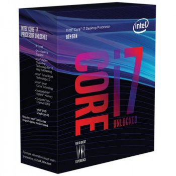 Процессор Intel Core i7_8700K 3.7GHz/8GT/s/12MB (BX80684I78700K) s1151 BOX