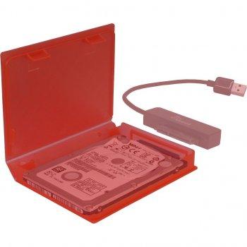 """Бокс для HDD Inter-tech 1x2.5"""" пластик, Червоний (88885390)"""