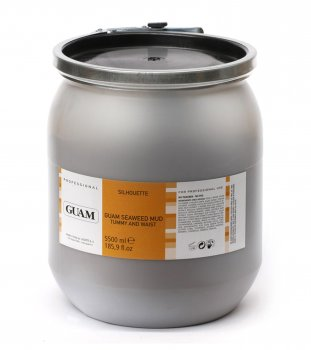 Грязьова маска з водоростей для живота і талії GUAM GUAM Seaweed Mud Tummy and Waist 3 ємність 5000 мл (7000 г)