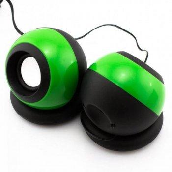 USB колонки для ПК SPS D008 GBX (006299) Green