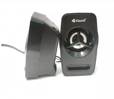 Потужні колонки Kisonli L-3030 для ПК підключення USB Чорні