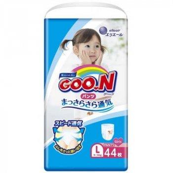 Підгузник GOO.N Трусики для дівчаток 9-14 кг (L, 44 шт) (853628)