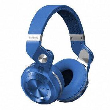 Складні бездротові bluetooth-навушники-гарнітура Bluedio T2+ Сині