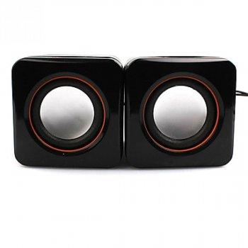 Аудіо колонки для ПК, ноутбука, і MP3 плеєра GBX SPS D02A (005764) Чорні