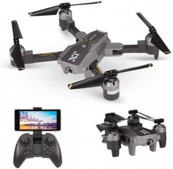 Квадрокоптер с камерой Wifi HD 720p SJ XP-8 с усиленным аккумулятором серый